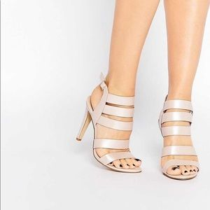 London Rebel Strappy Heeled Sandals ASOS
